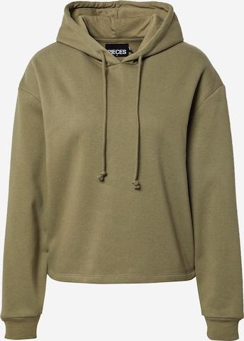 PIECES Sweatshirt 'Chilli' in Green