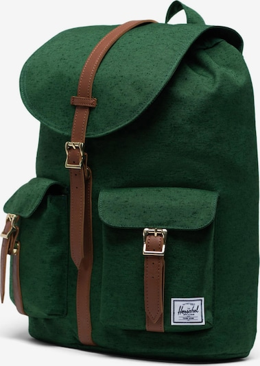 Herschel Sac à dos 'Dawson' en marron / vert, Vue avec produit