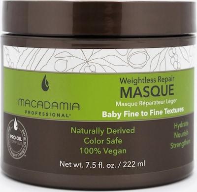 Macadamia Maske 'Weightless Moisture Masque' in dunkelbraun / grün / weiß, Produktansicht