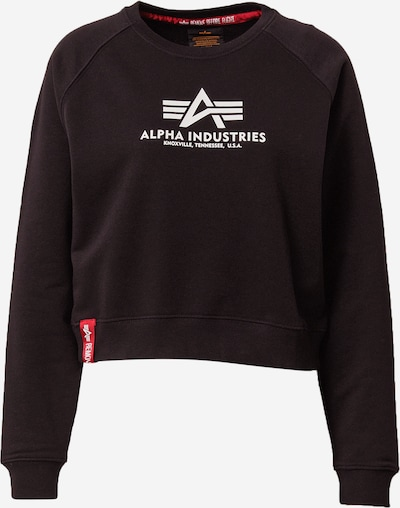 ALPHA INDUSTRIES Sweatshirt in schwarz / weiß, Produktansicht