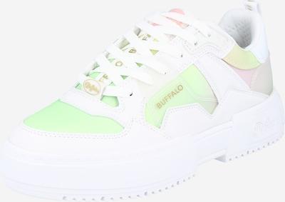 BUFFALO Sneaker in hellgrün / hellpink / weiß, Produktansicht