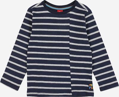 s.Oliver Shirt in dunkelblau / hellgrau, Produktansicht