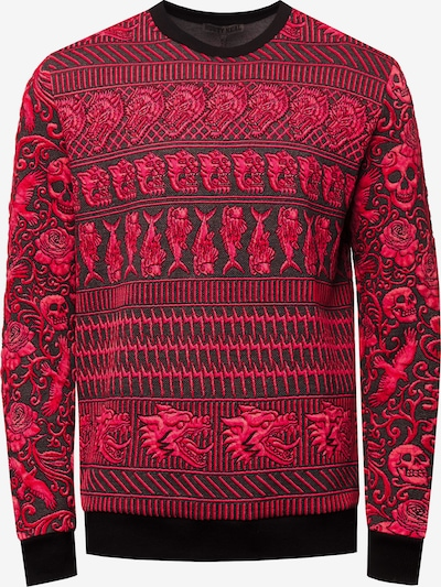 Rusty Neal Sweatshirt in rot / schwarz, Produktansicht