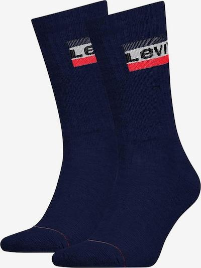 LEVI'S Socken in navy / grau / rot / schwarz, Produktansicht