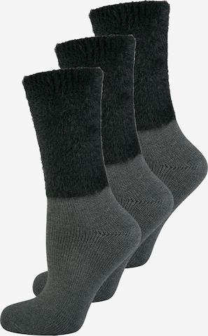 ELBEO Damensocken ' 3-Pack Cozy Winter ' in Grau