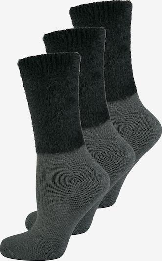 ELBEO Chaussettes ' 3-Pack Cozy Winter ' en gris / noir, Vue avec produit