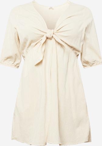 Cotton On Curve Kleid in Beige