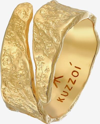 KUZZOI Ring Bandring in gold, Produktansicht