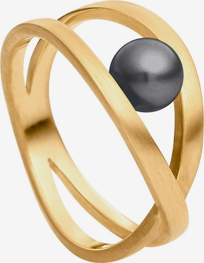 Heideman Ring in de kleur Goud / Antraciet, Productweergave
