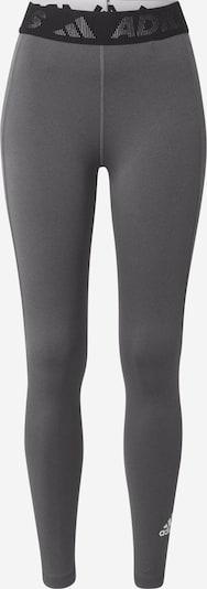 ADIDAS PERFORMANCE Sporthose in grau / schwarz / weiß, Produktansicht