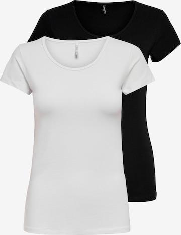 ONLY Skjorte 'LOVE' i svart