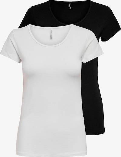 ONLY Shirts 'LOVE' in schwarz / weiß, Produktansicht