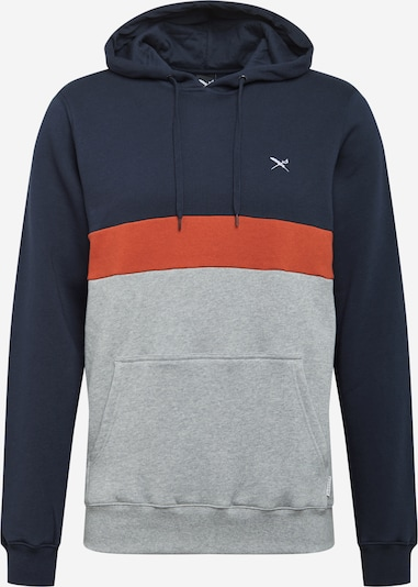 Iriedaily Sweatshirt 'Court' in de kleur Navy / Grijs gemêleerd / Kreeft, Productweergave