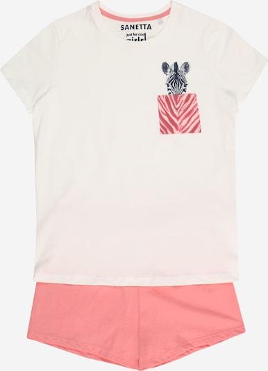 SANETTA Pyjama en blanc chiné, Vue avec produit