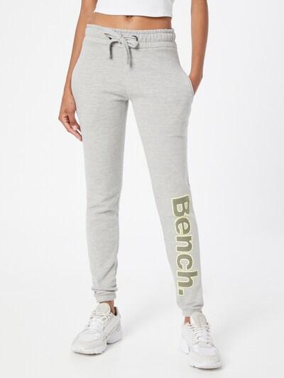 BENCH Панталон 'COREY' в светложълто / сив меланж: Изглед отпред
