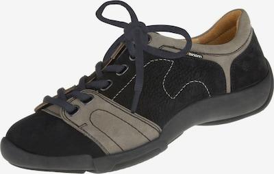 Binom Schnürschuhe in beige / schwarz, Produktansicht