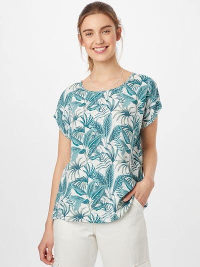 Sublevel Bluse in mint / offwhite, Modelansicht