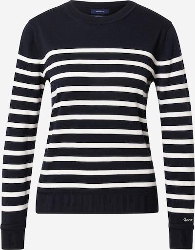 GANT Jersey 'BRETON' en azul oscuro / blanco, Vista del producto