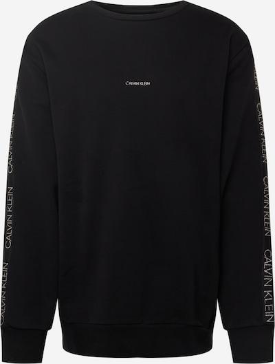 Calvin Klein Big & Tall Sweater majica u crna / srebro, Pregled proizvoda