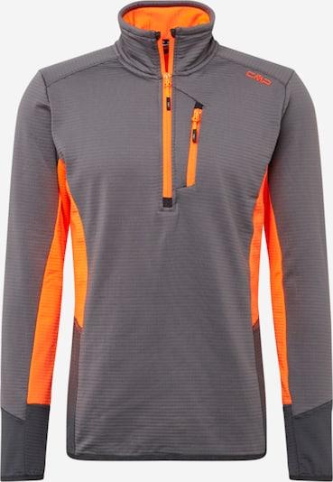 CMP Functioneel shirt in de kleur Donkergrijs / Sinaasappel, Productweergave