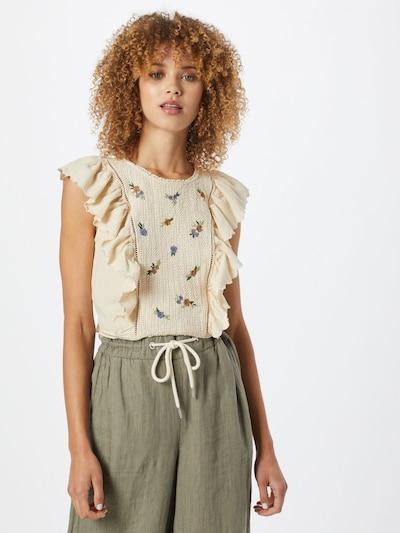 Pimkie Bluse 'STMACRA' in kitt / himmelblau / grün / hellgrün / dunkelorange, Modelansicht