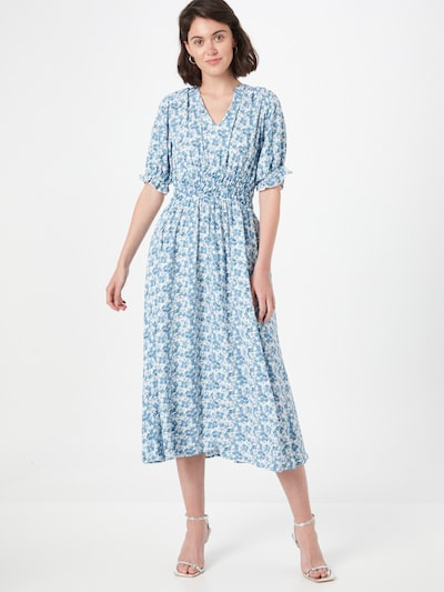 Y.A.S Kleid 'SUSLA' in hellblau / gelb / weiß, Modelansicht