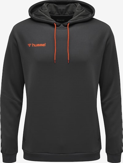 Hummel Hoodie 'Poly' in dunkelgrau / orangerot, Produktansicht