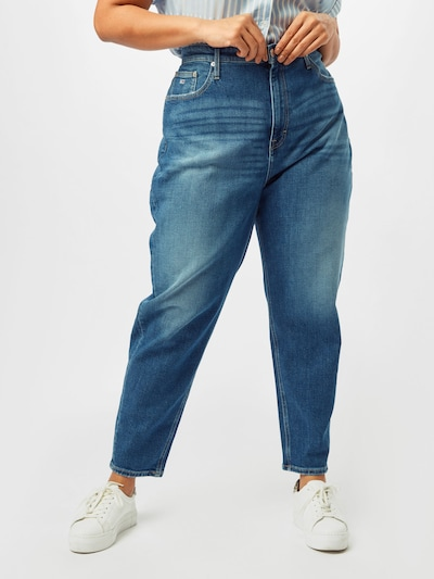 kék farmer Tommy Jeans Curve Farmer, Modell nézet