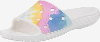 Crocs Pantoletten in blau / gelb / mischfarben / pink / weiß, Produktansicht