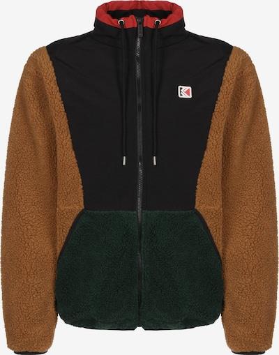 Karl Kani Tussenjas ' Teddy Block ' in de kleur Bruin / Zwart, Productweergave