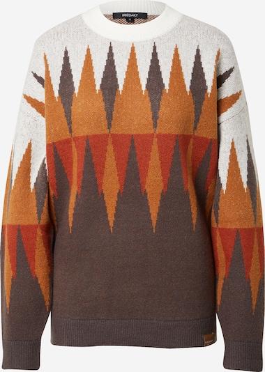 Iriedaily Pullover 'Fady' in braun / cognac / rot / weiß, Produktansicht