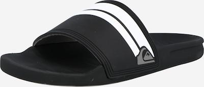 QUIKSILVER Muiltjes 'RIVI' in de kleur Zwart / Wit, Productweergave