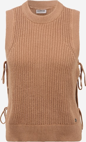 Noisy May Petite Pullover 'MARIANNE' in Braun