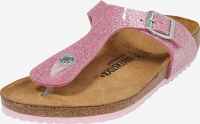 BIRKENSTOCK Sandale 'Gizeh' in rosa / silber, Produktansicht