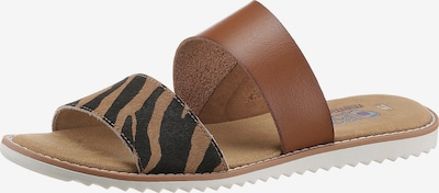 SKECHERS Pantolette in braun / hellbraun / schwarz, Produktansicht