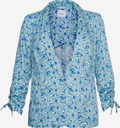 SHEEGO Blazer in marine blue / Blue denim / Grass green / White, Item view