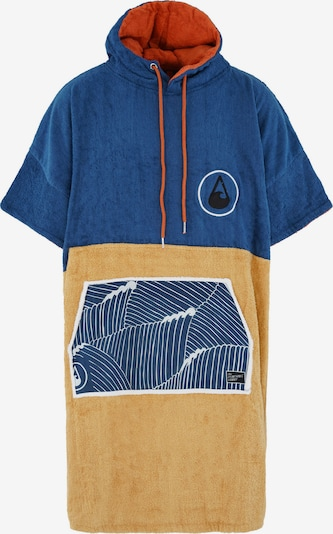 Wave Hawaii Badeponcho ' Flow ' in blau / gelb, Produktansicht