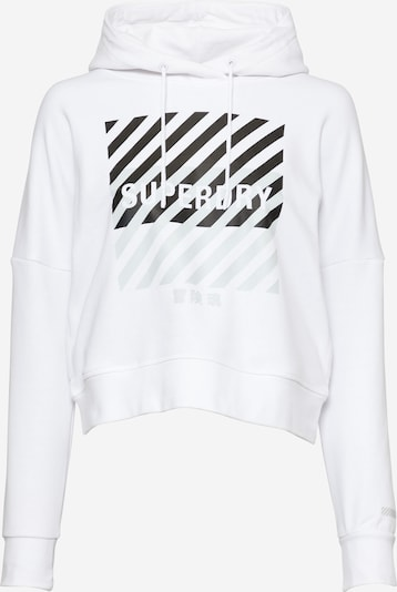 Superdry Sportovní mikina - černá / bílá, Produkt