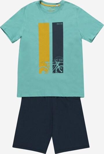 SANETTA Pyjama en citron vert / pétrole / jade, Vue avec produit