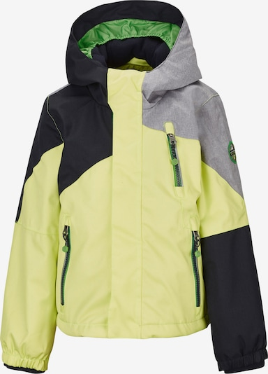 KILLTEC Outdoor jacket 'Yariny' in light yellow / grey mottled / black, Item view