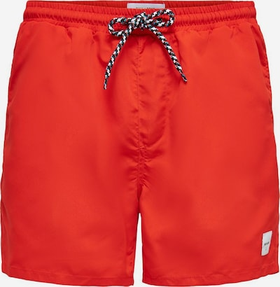 Only & Sons Zwemshorts in de kleur Oranjerood: Vooraanzicht