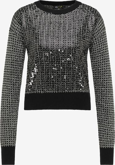 myMo at night Pullover in schwarz / silber, Produktansicht