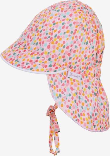 STERNTALER Mütze in azur / gelb / orange / pink / rosa, Produktansicht