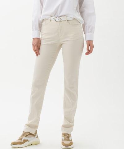 BRAX Jeans 'Mary' in creme, Modelansicht