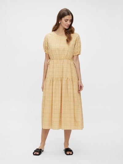 Y.A.S Kleid 'Sturi' in gelb / weiß, Modelansicht