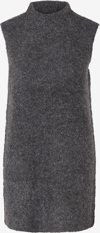 PIECES Knitted dress 'Free' in Grey