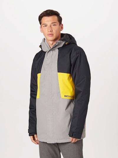 Giacca per outdoor 'DEFY ' DC Shoes di colore giallo / grigio / antracite: Vista frontale