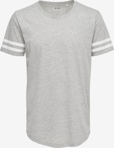 Only & Sons Paita värissä vaaleanharmaa / valkoinen, Tuotenäkymä