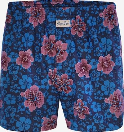 Sugar Pine Boxershorts ' Aloha Vera ' in blau / pink, Produktansicht