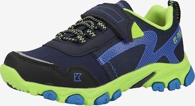 Kastinger Wanderschuhe in blau / neongrün, Produktansicht